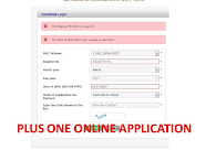 PLUS ONE ONLINE APPLICATION 2017