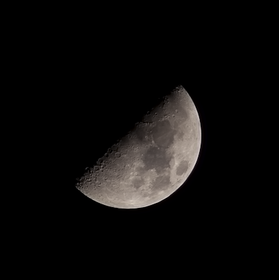 quarter moon with 300mm lens