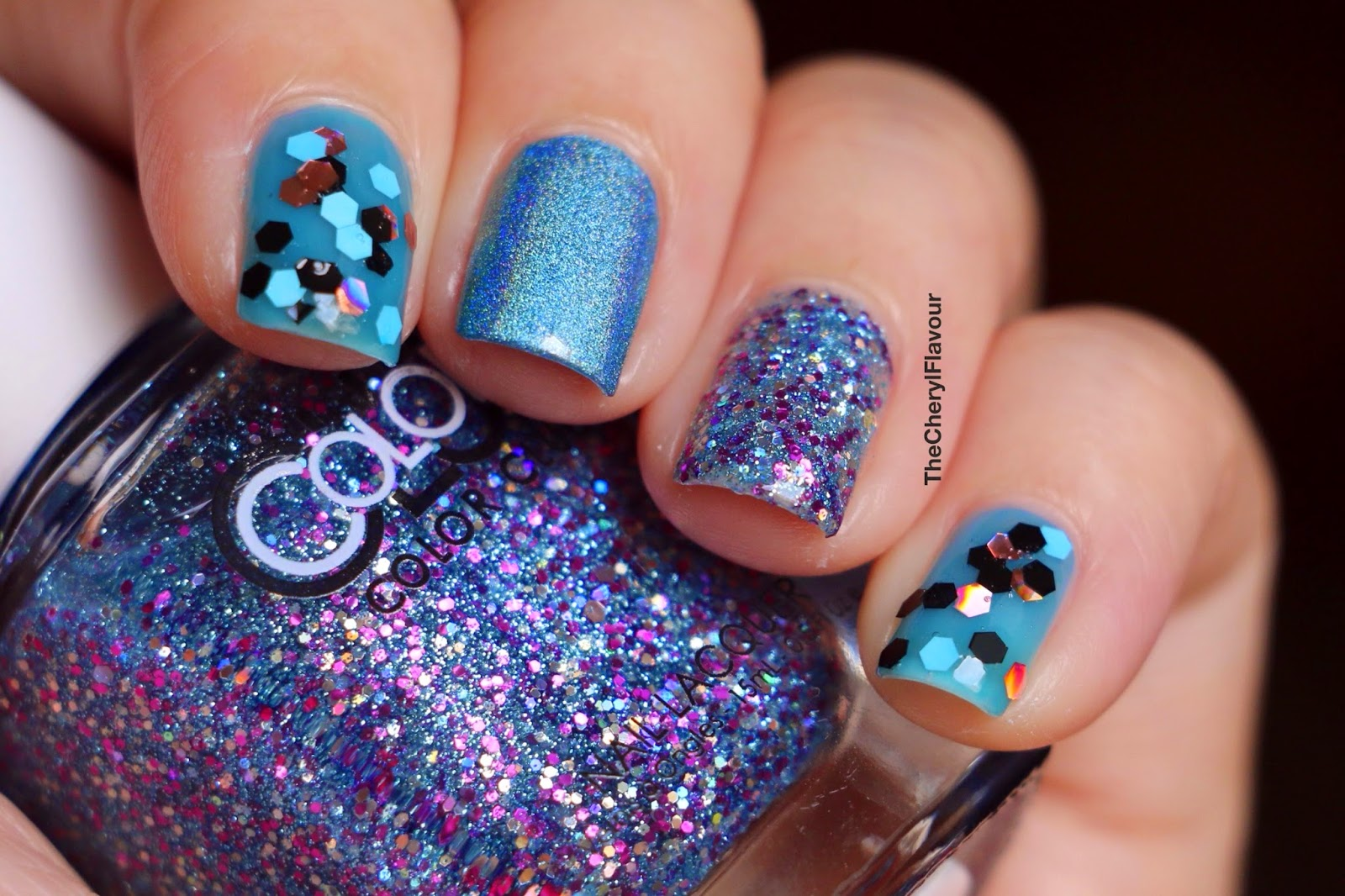 Blue Themed Nails