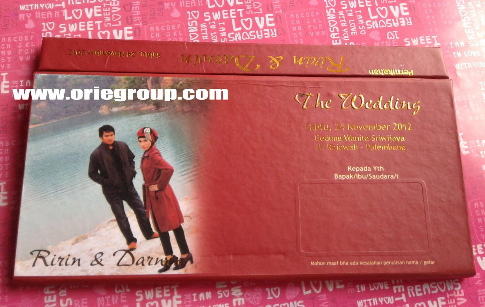 Download image Percetakan Orie Kartu Undangan Wedding Card Palembang ...