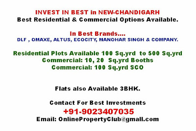 Property in Mullanpur New-Chandigarh, Altus, Omaxe, DLF, Ecocity, Manohar singh