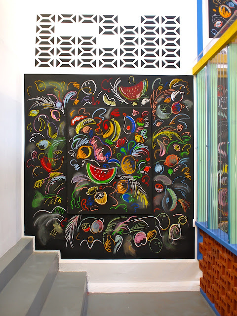 "Venezualan artist Sol Calero' s installation "" The School of the South"" at Studio Voltaire, Clapham, London, October 2015"