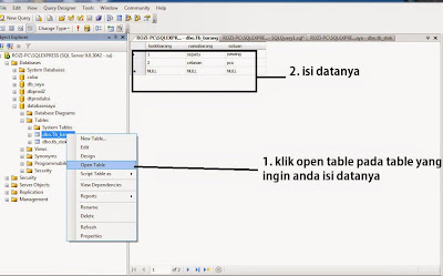 Cara Membuat Table di Sql Server 2005