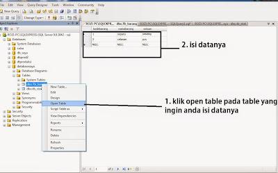 Cara Membuat Table di Sql Server 2005