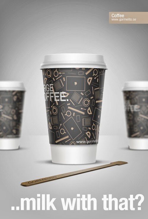 Stylish Coffee Cup With Smart Objects