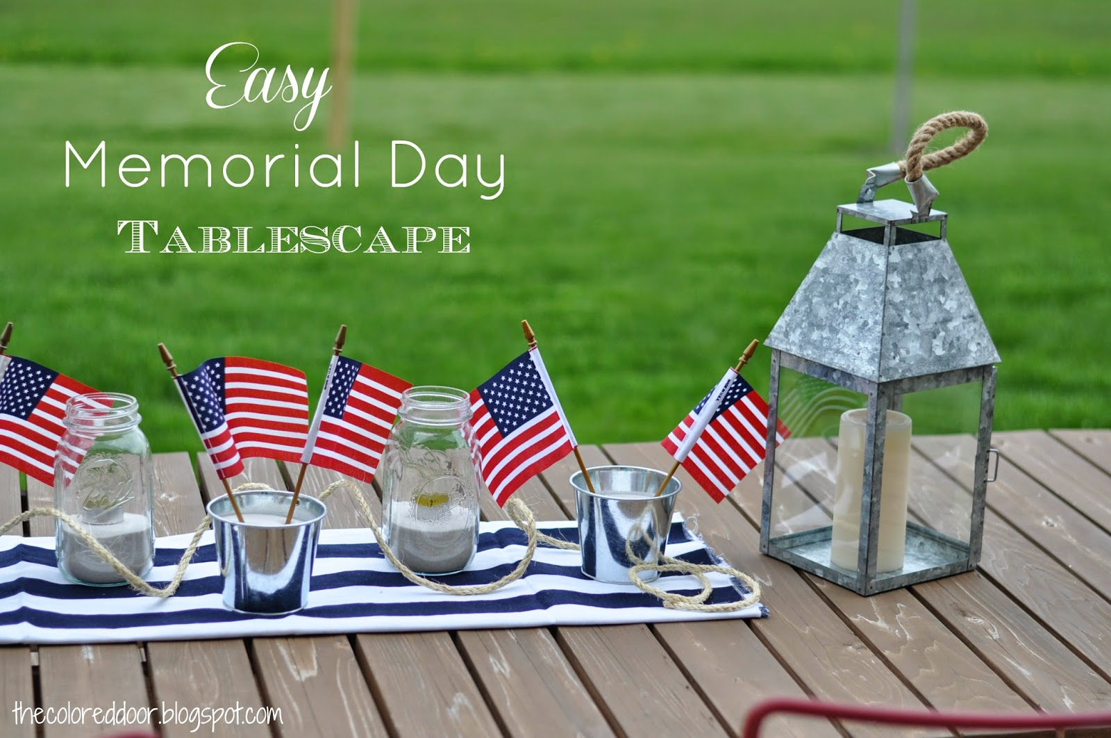 Easy Memorial day tablescape - the colored door