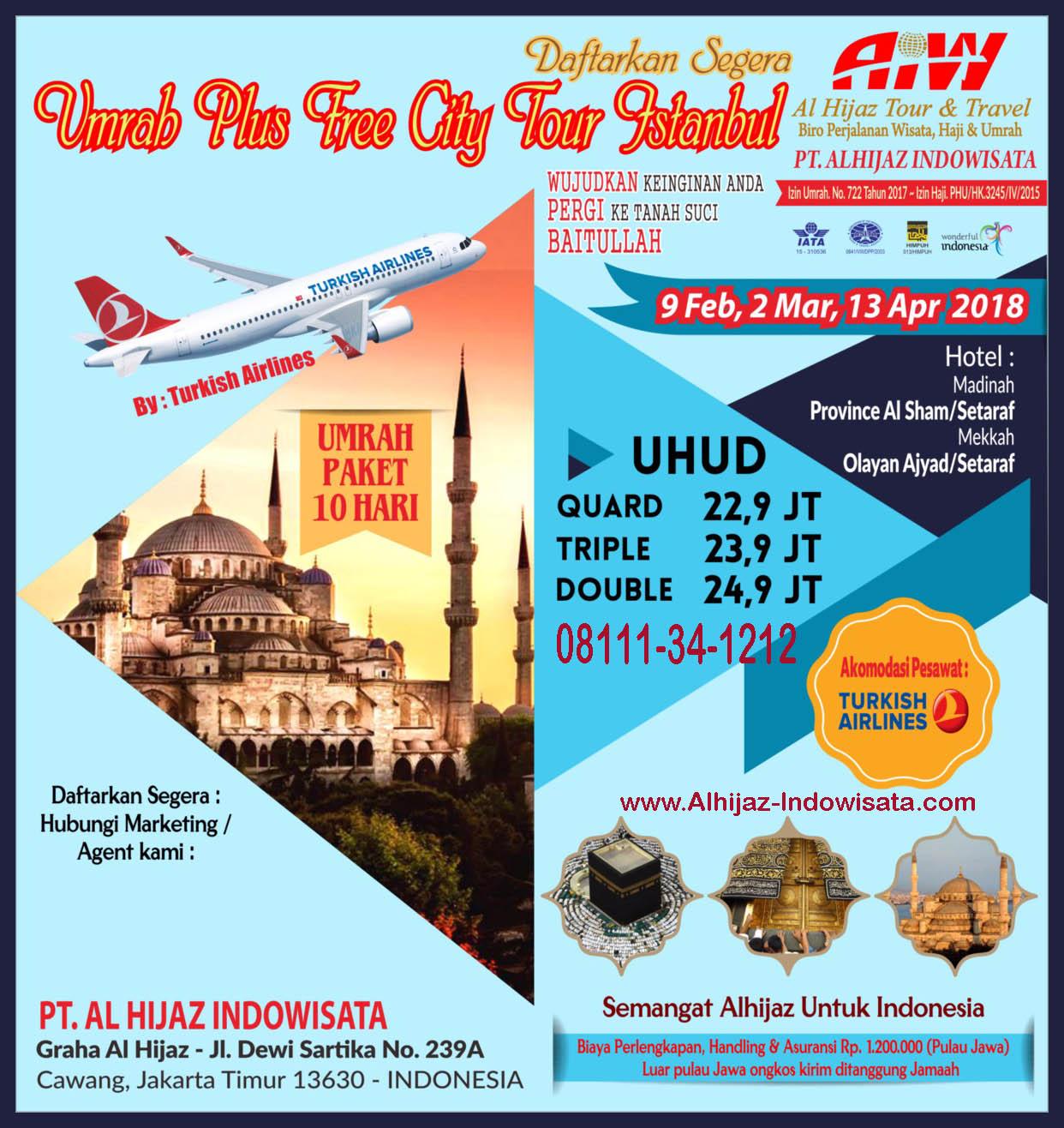 Umroh Tour Turki CP.08111-34-1212
