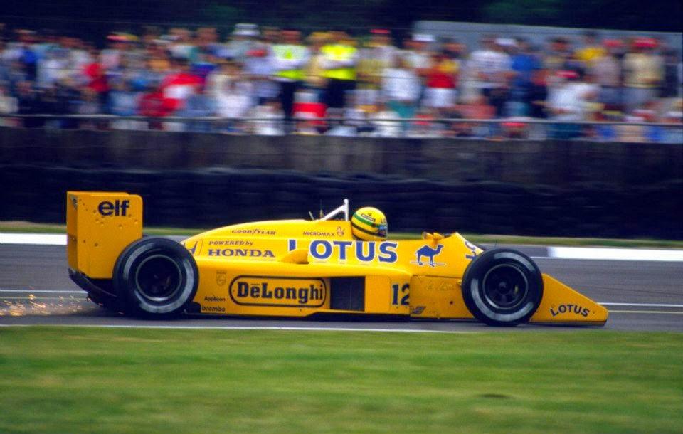 1987 Carro Ayrton Senna Fórmula 1 Lotus