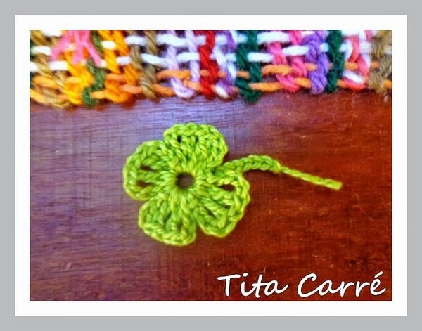 Trevo da Sorte em crochet