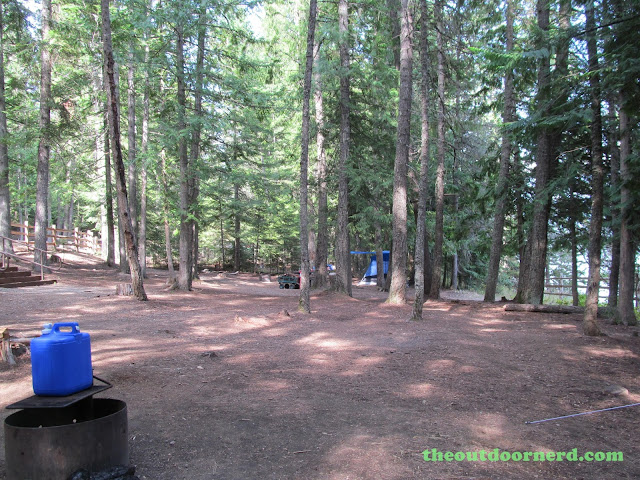 Outlet Campgrounds At Priest Lake, Idaho: Camp Area - Site 14