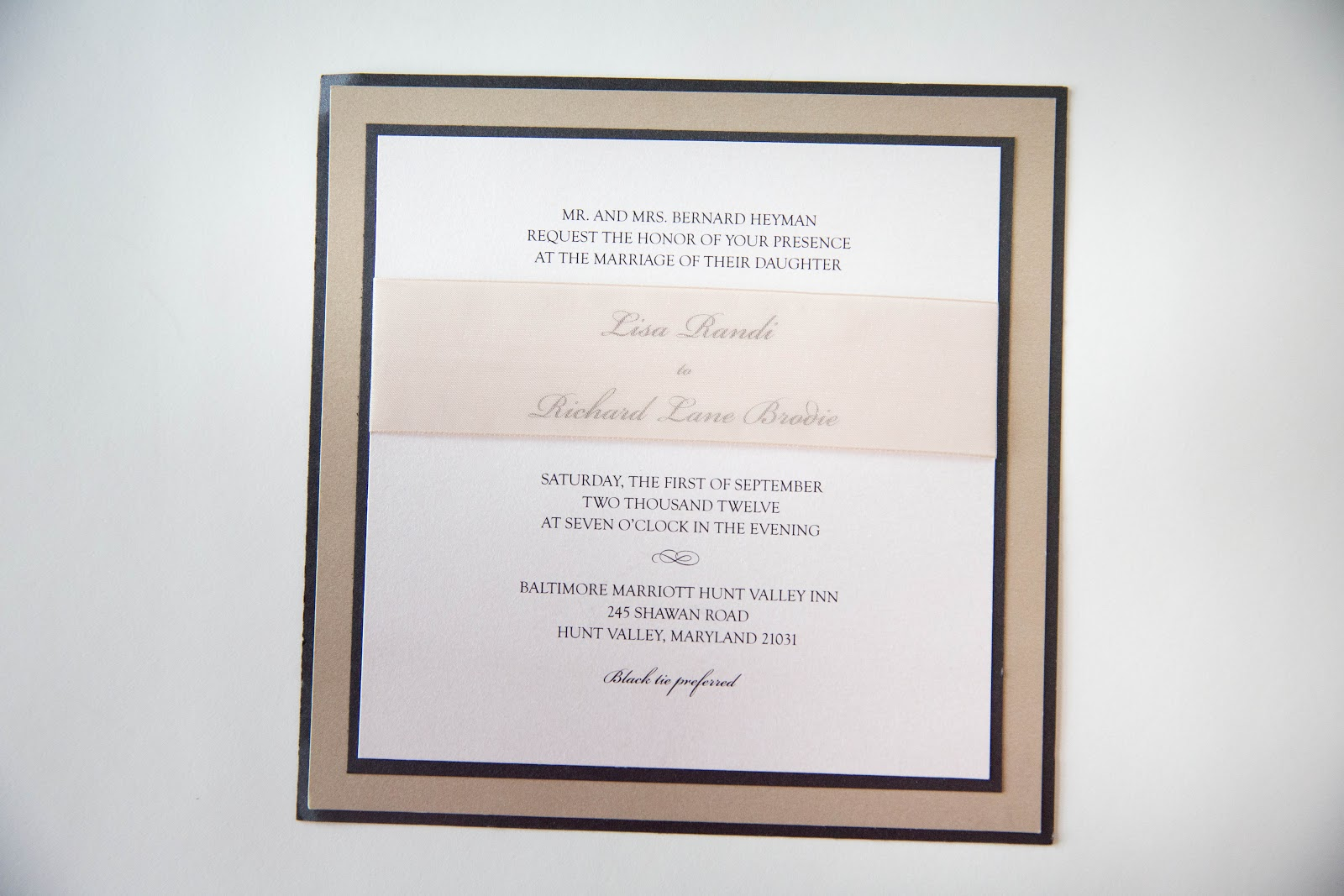 Wedding Invitation • Square Wedding Invitations Baltimore - Kindly ...