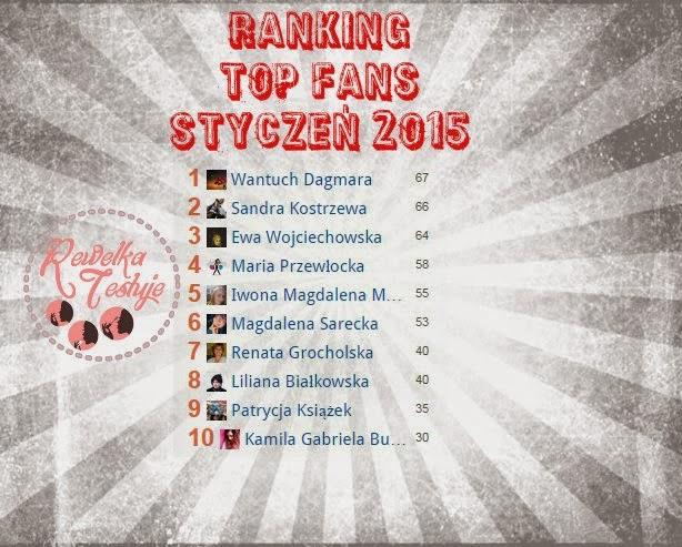 Wyniki rankingu TOP FANS Styczeń 2015 z Fanpaga