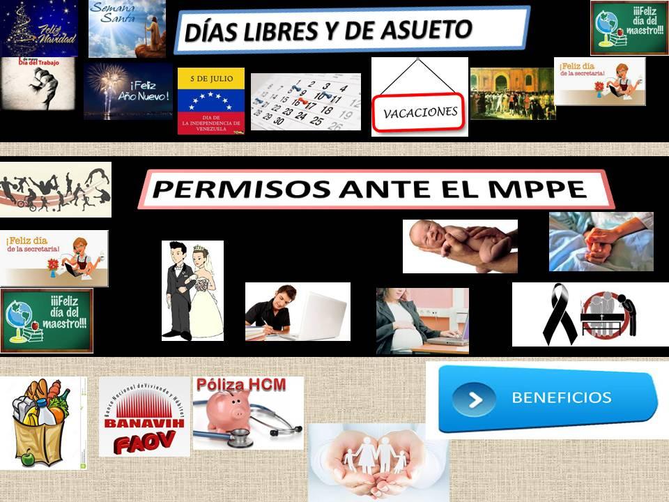 PERMISOS - DIAS DE ASUETO - BENEFICIOS MPPE