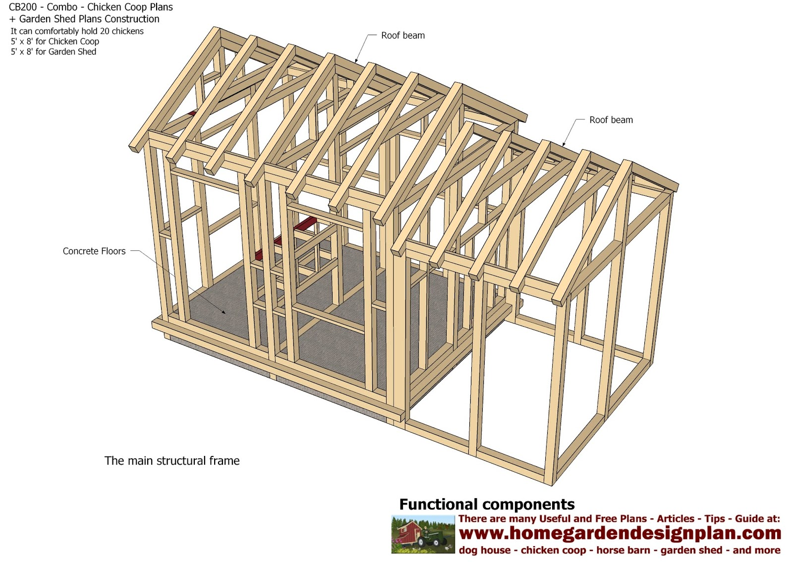Maje chicken coop garden shed plans for Garden shed plans