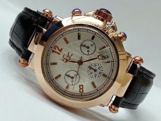 Guess GC Triple Chrono hitam