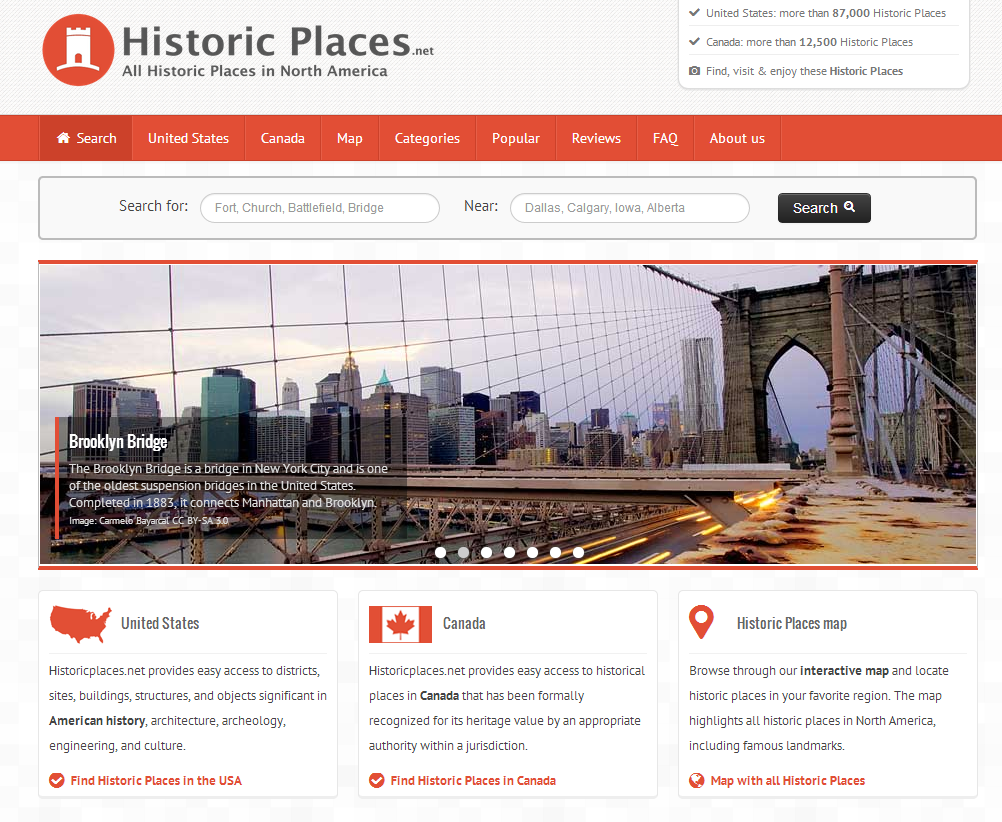 historic places is a great tool for discovering the history near where you live or when you are planning a vacation thanks to richard byrne who shared