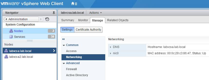 VMware Snapshots: VCSA 6 Regenerate Certificate after changing Hostname
