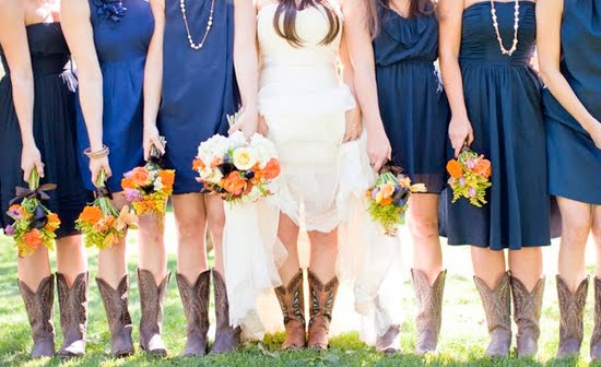 Cowboy boots with BM dress wedding Navy 2Bdresses 2Bw 2Bcowboy