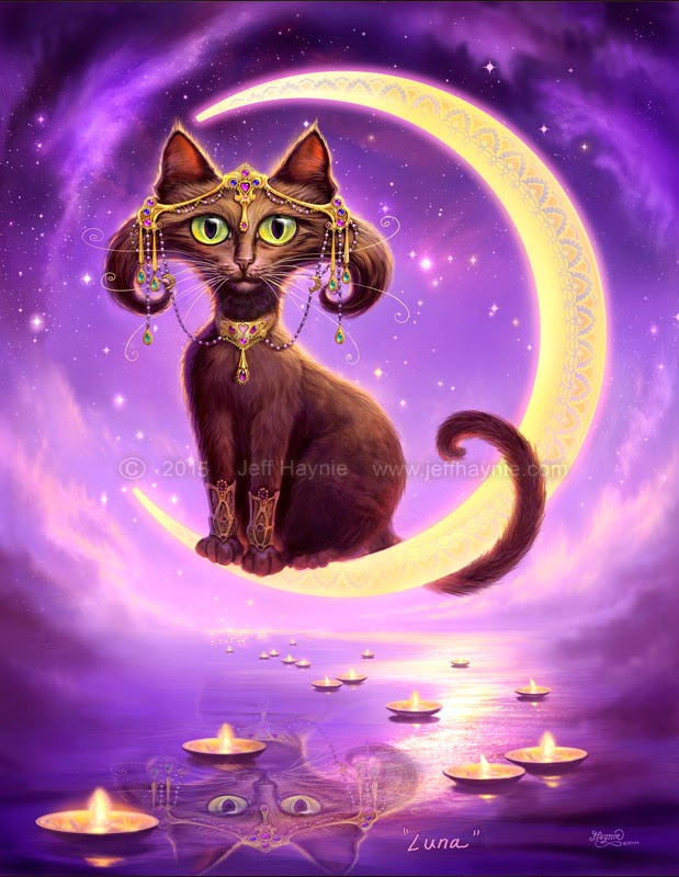 13-Luna-Jeff-Haynie-Cats in Drawings-Paintings-and-Jewelry-www-designstack-co