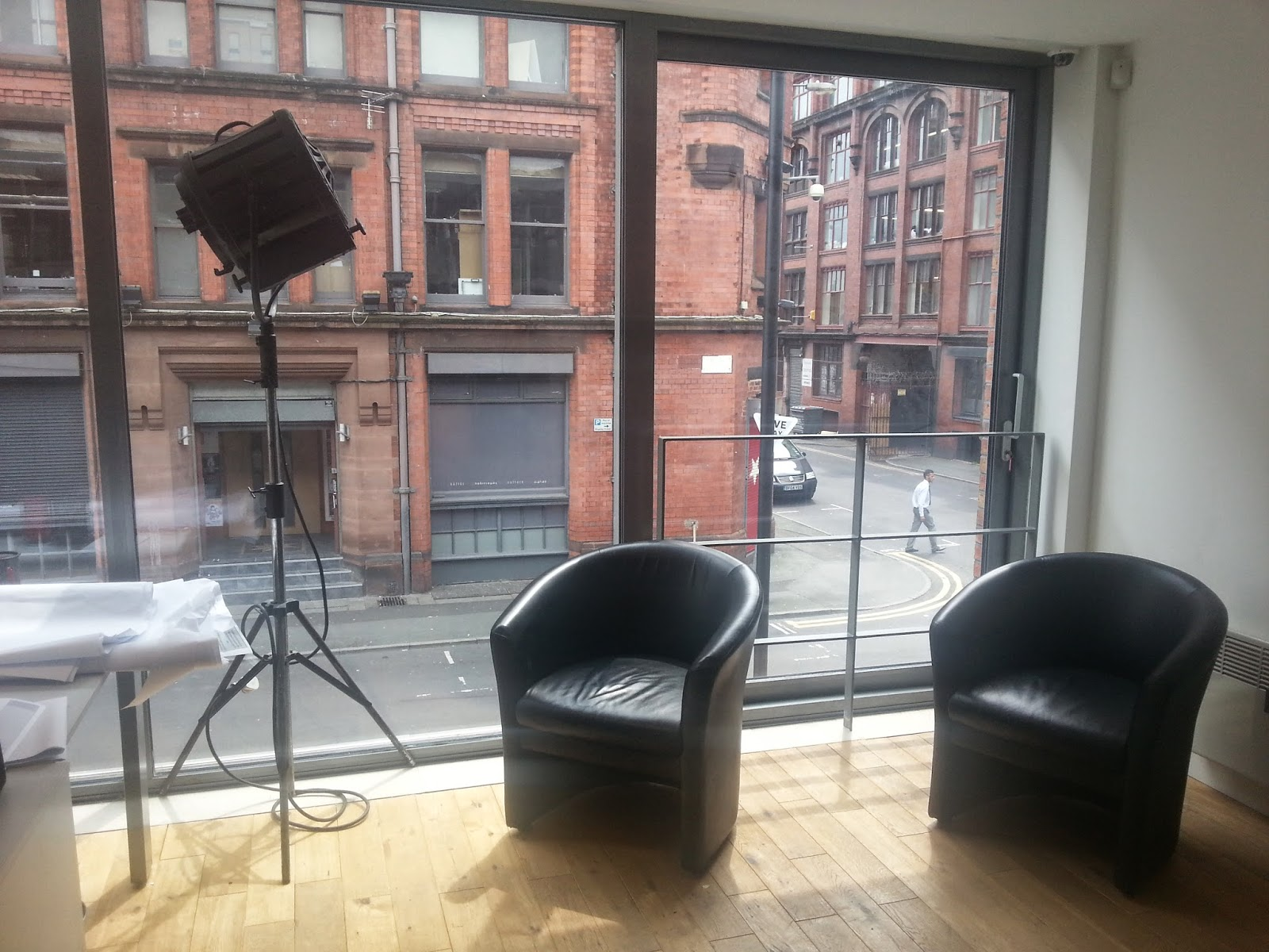 small seating area in our 1st floor office space where the pdi boys