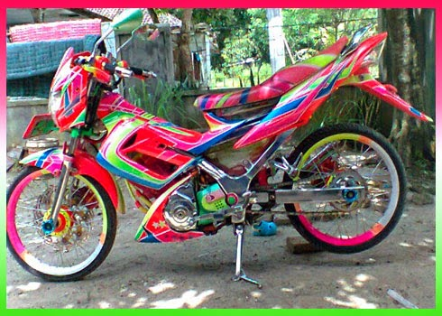 Modifikasi New Satria FU 150 Airbrush