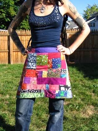 moldes de avental em patchwork