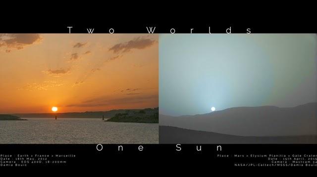 Inilah yang Membuat Sunset di Mars Berbeda dengan di Bumi