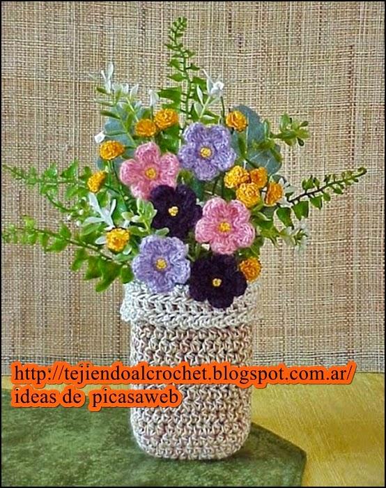 Flores De Tejido De Gancho. Ampliar Imagen. Como Hacer Flores De ...