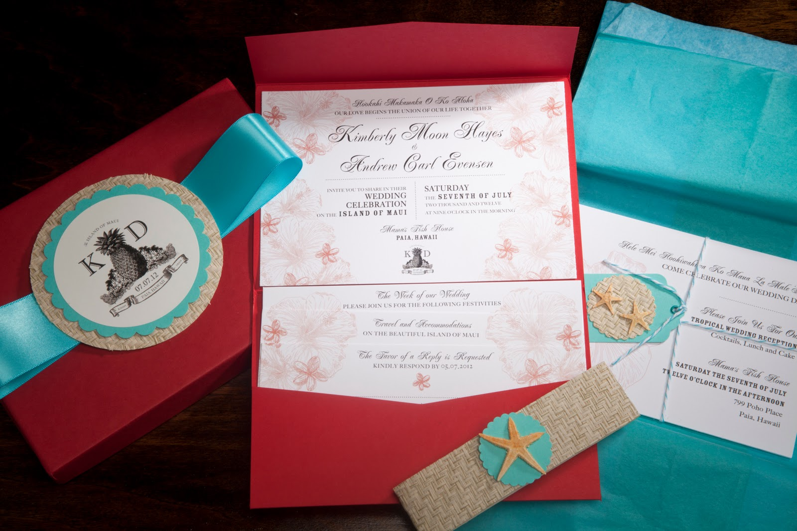 Tikilife: Reveal: Tiki Wedding Extravaganza Invitations