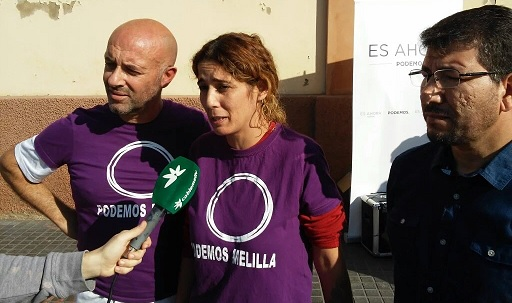 Disparan a la comitiva de Podemos en Melilla durante un acto electoral