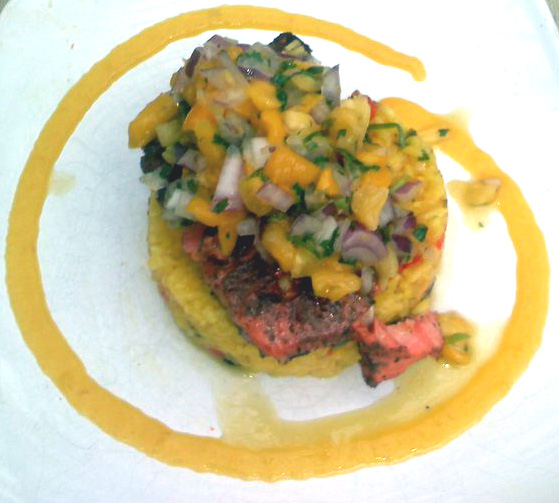 Caribbean Jerk Salmon and Mango Pineapple Salsa - Gluten-Free Faces