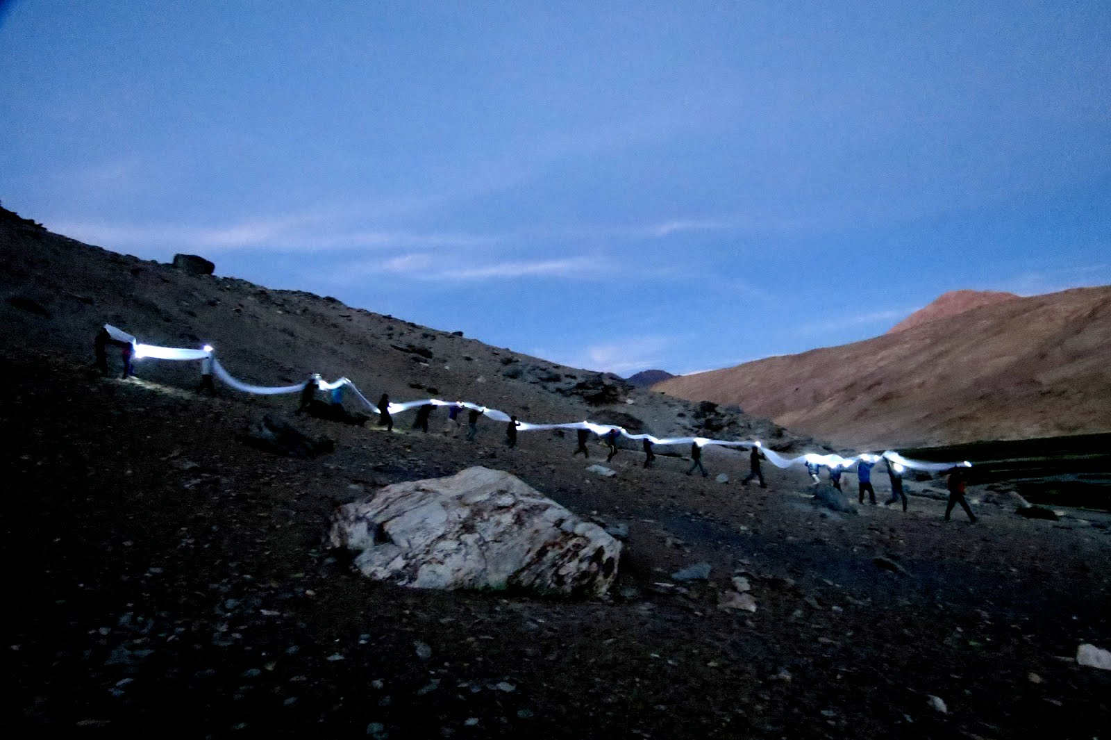 Dd Environmental light Performative Installation, LADAKH 2014