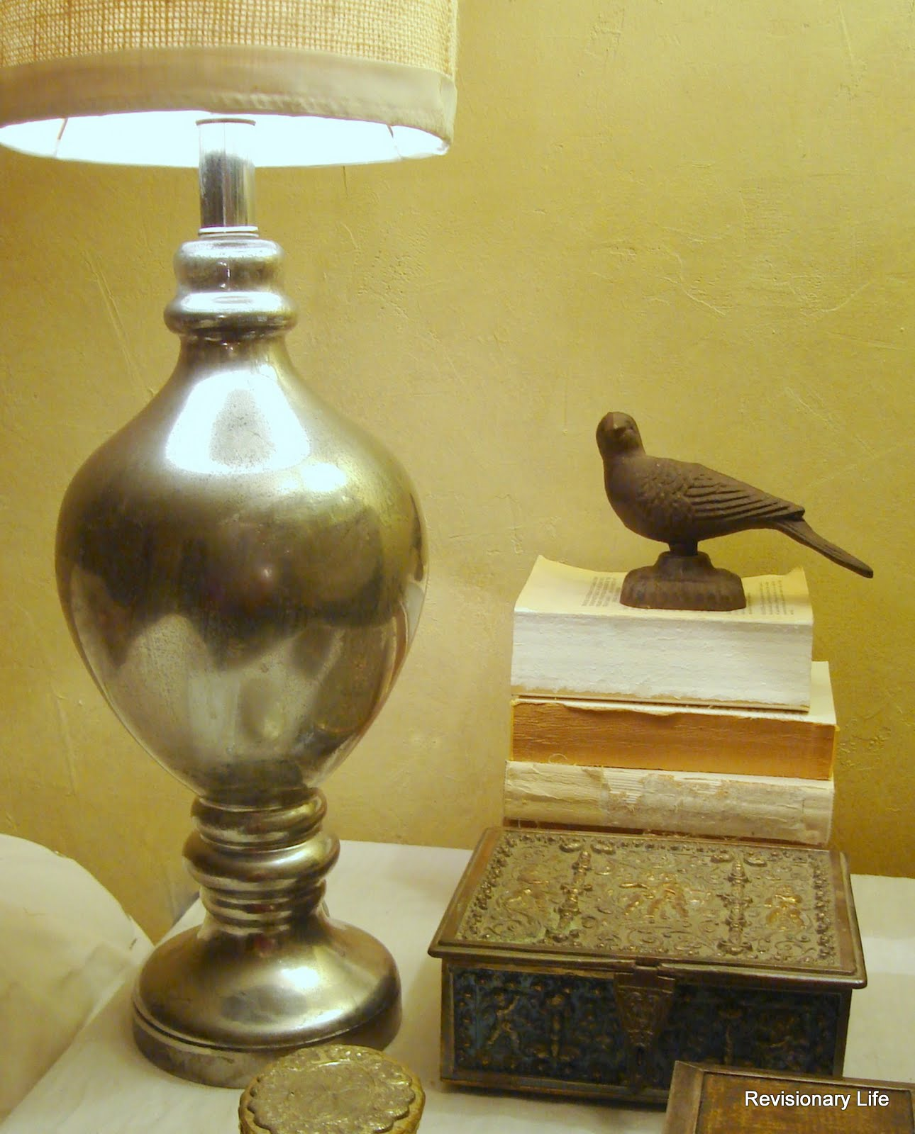 Revisionary Life: DIY Mercury Glass - Lamp Reveal!