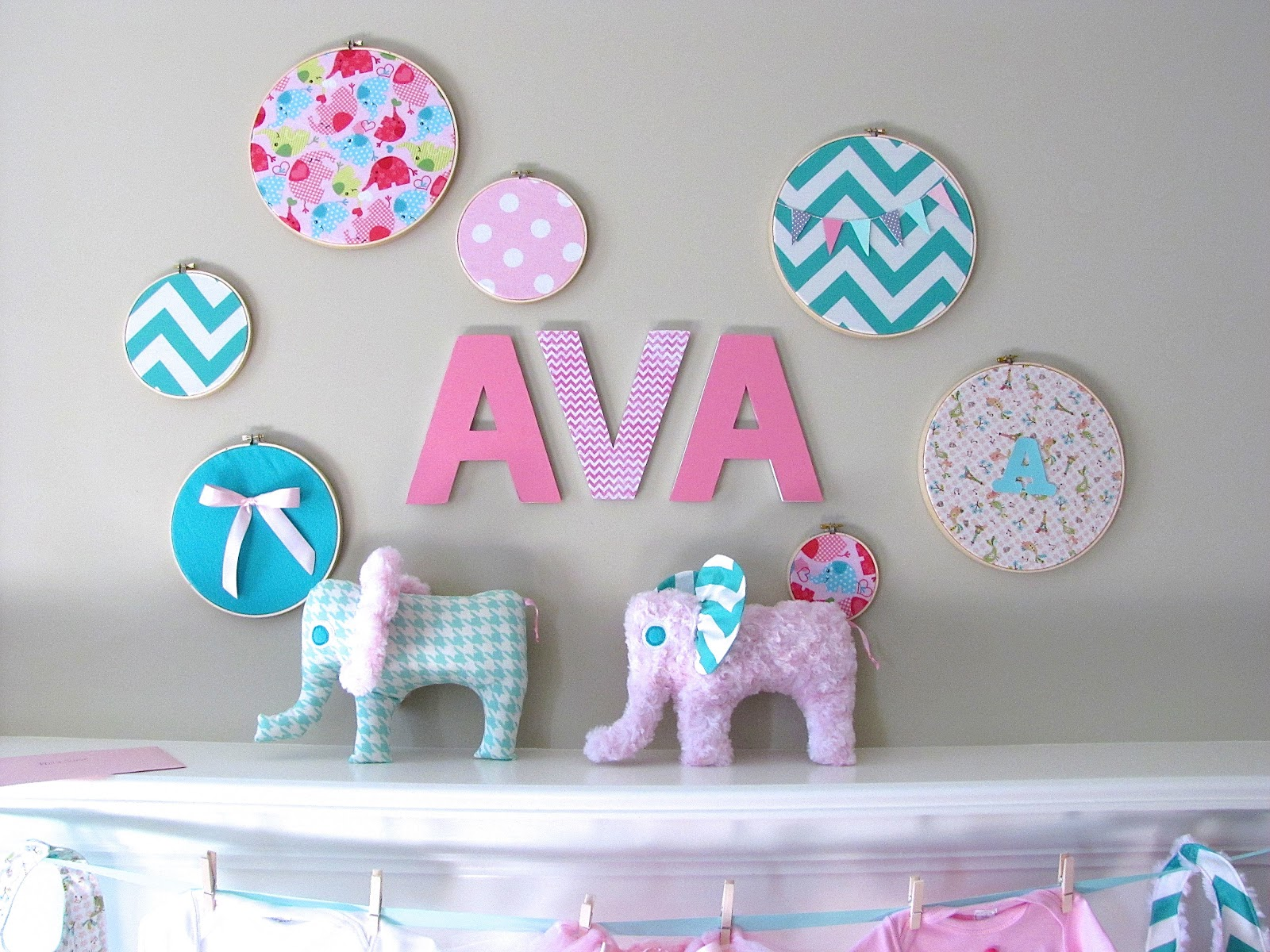 Pink And Aqua Baby Shower Decorations