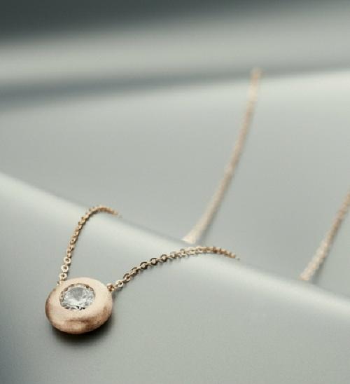 14k Pink Bold Necklace