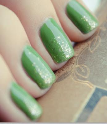 unas pintadas verde