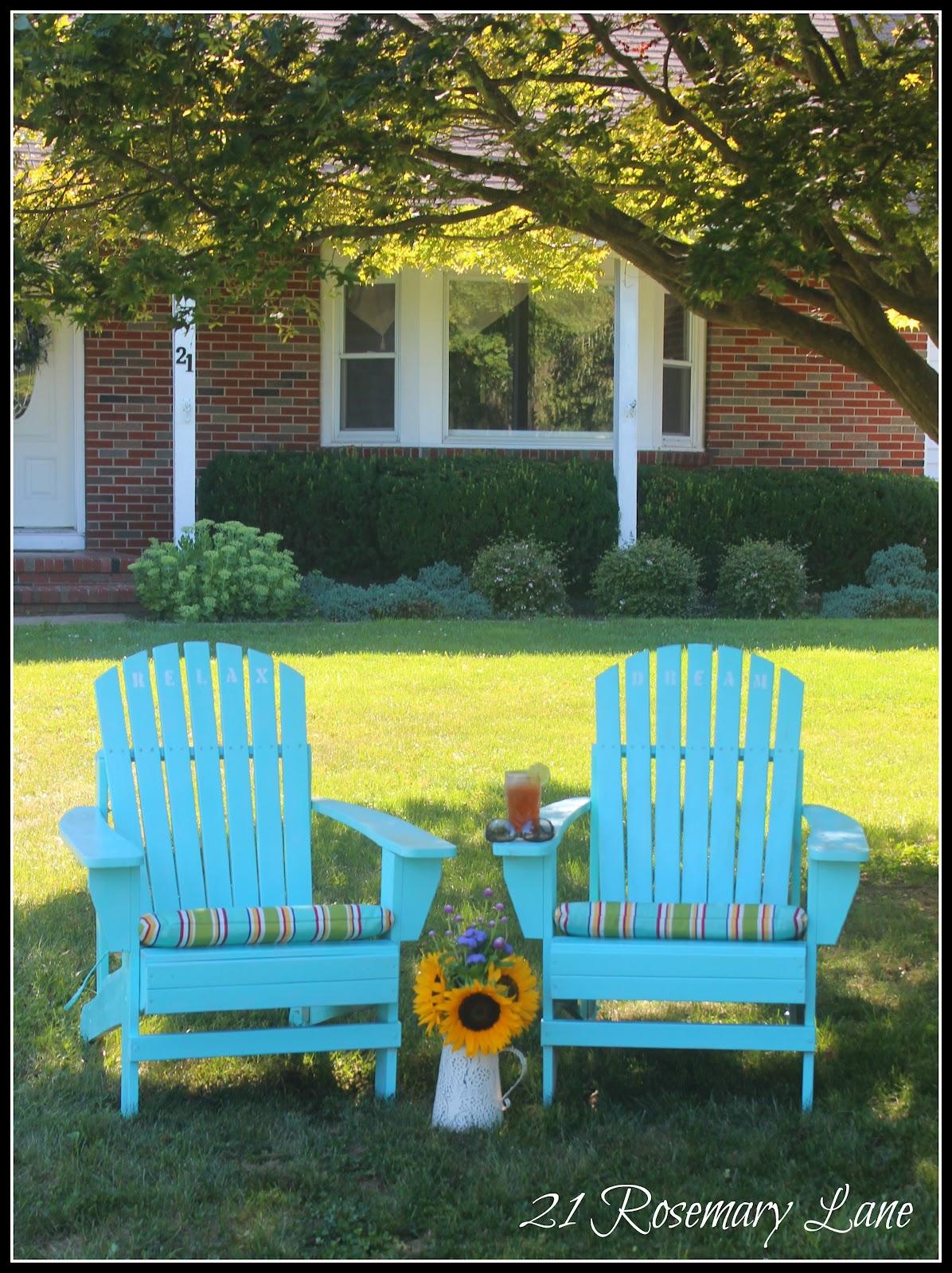 21 Rosemary Lane My Freshly Painted Adirondack Chairs
