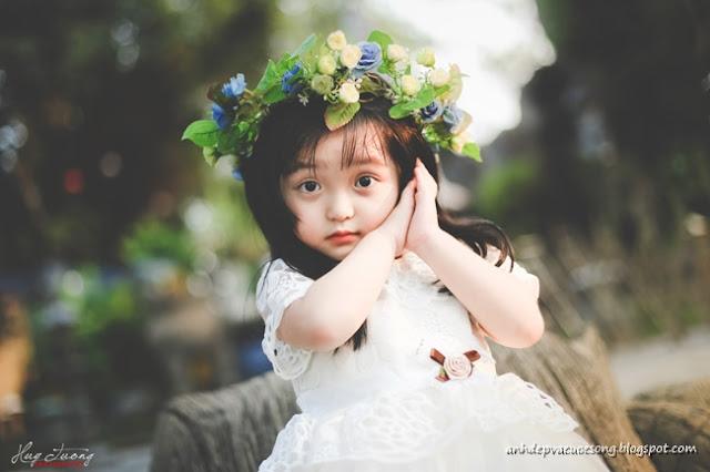 Ảnh bé gái xinh như thiên thần