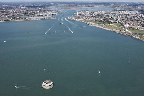 Blick auf Portsmouth