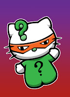 Hello Kitty in Riddler costume