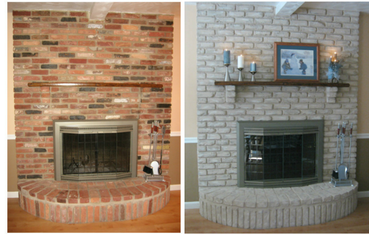 Brick Fireplace Part - 33: Why Paint A Brick Fireplace?