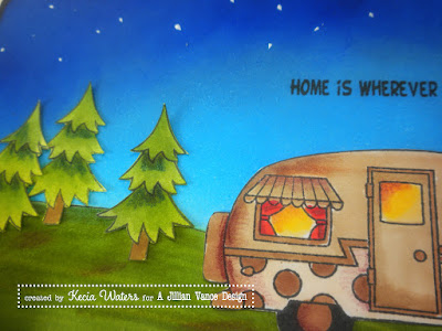 AJVD, Whimsie Doodles, Kecia Waters, multimedia coloring, camper