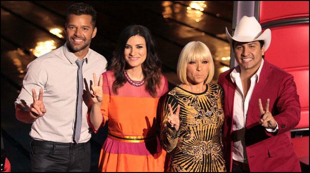 Imagen del programa musical de Televisa La Voz... Mexico 2014, en su cuarta temporada   Ximinia