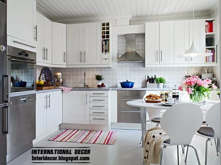 Scandinavian kitchen style and design, large kitchen