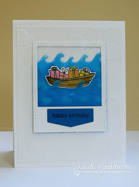 Happy Birthday Card by Danielle Pandeline for Newton's Nook Designs | SEAson's Greetings
