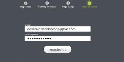 registrando uma conta no site 2leep