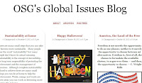 A screenshot of OSG's Global Issues Blog.
