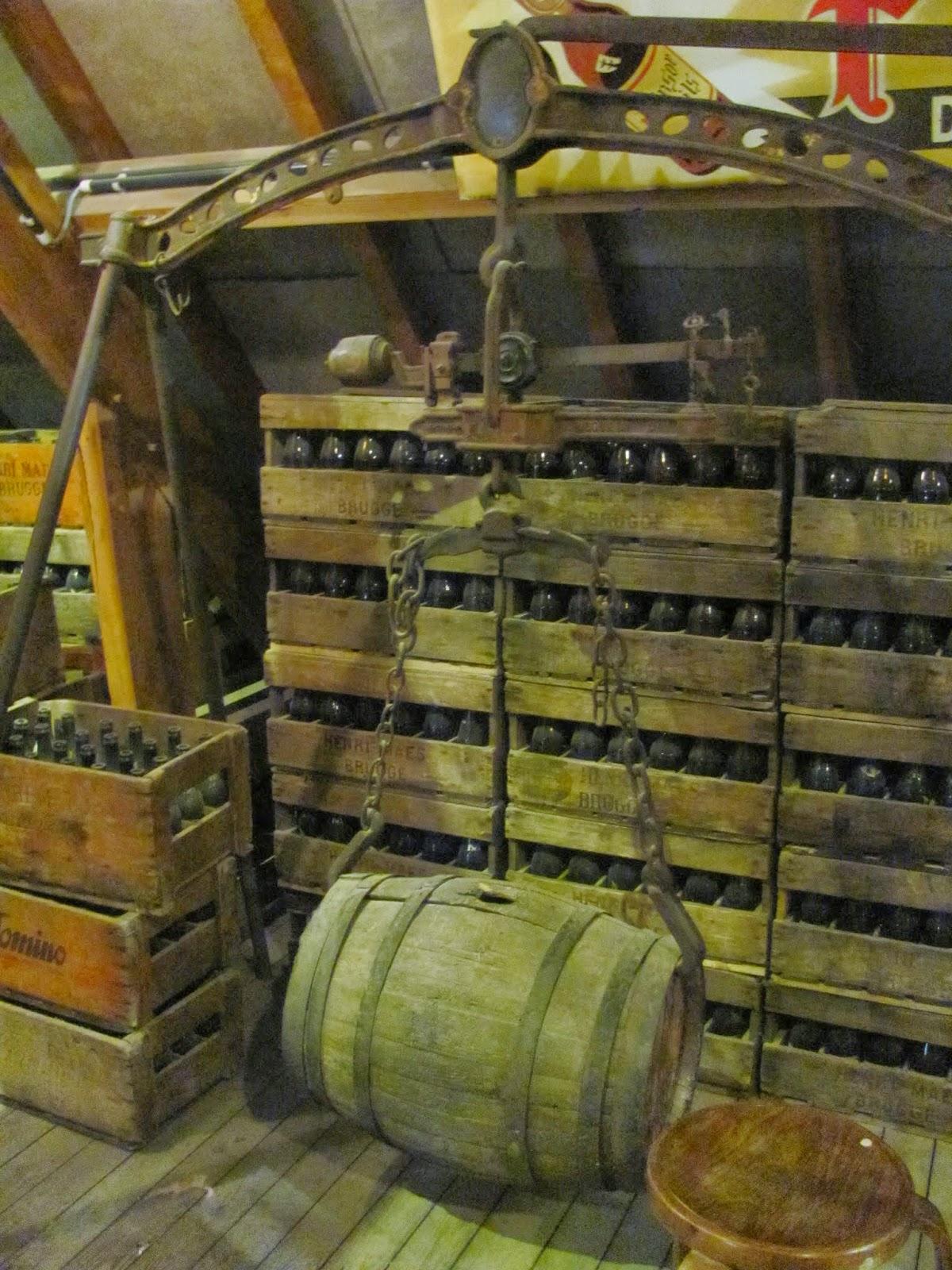 Keg Lifter Halve Maan Brewery Bruges, Belgium