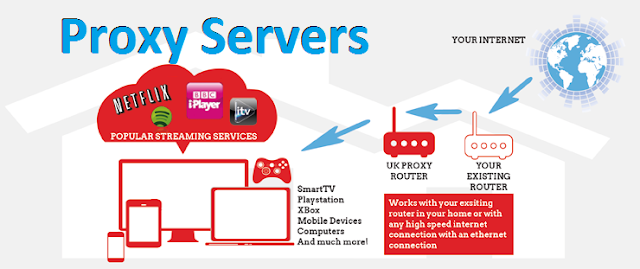 proxy servers working infographic