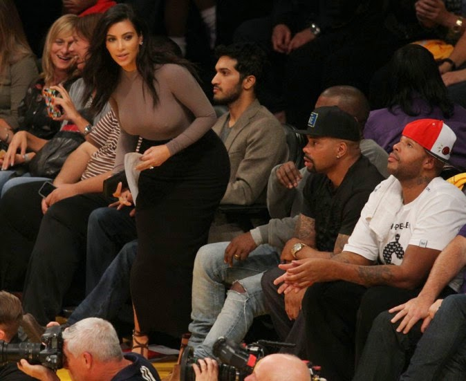 Kim Kardashian and Kanye West witnesses the Lakers